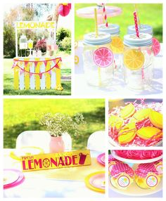 Sunshine and Lemonade themed birthday party with So Many Adorable Ideas via Kara's Party Ideas! Full of decorating tips, ideas, recipes, fav...