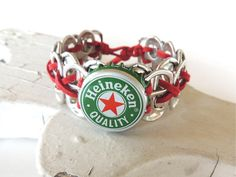 Upcycled Beer Bracelet by FabTabulous