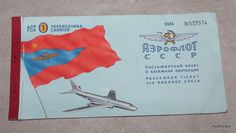 aeroflot USSR Russian airline ticket Stockholm Karpov Baggage Label Check #Unbranded