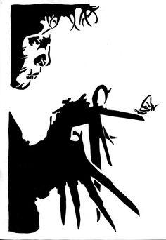 edward scissorhands stencil - Google'da Ara