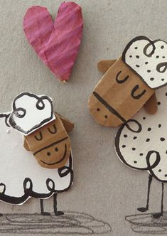 Ovejas | Láminas originales | Anna Llenas Projects For Kids, Crafts For Kids, Arts And Crafts, Paper Crafts, Paper Art Design, Cardboard Toys, Funny Illustration, Children's Picture Books, Recycled Art