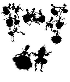 The silhouettes had parties together. | 15 Breathtaking Illustrations Of Fairy Tales From The 1920s