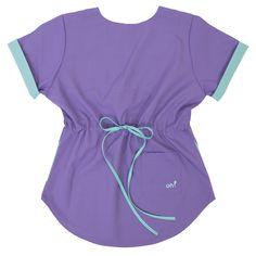 Lola Poly Violeta con Verde Scrubs, Angeles, Rompers, How To Wear, Dresses, Fashion, Gifs, Scrub Caps, Jackets