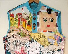 JUMPER Dress  Lot Vintage & Antique Linens Embroidery by MyBonny