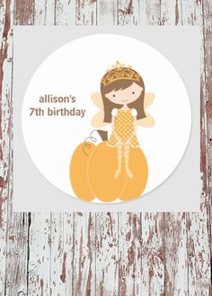 Get your hands on great customizable Fairy stickers from Zazzle. Fall Birthday, 7th Birthday, Autumn Fairy, Fairy Princesses, Free Paper, Fall Pumpkins, Round Stickers, Different Shapes, Faeries