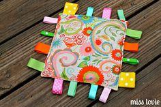 Crinkle Tag Toy=Easiest DIY Baby Toy Ever