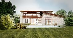 sketch of a family house Home Fashion, Studios, Sketches, Cabin, Mansions, House Styles, Pictures, Design, Home Decor