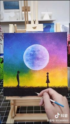 Canvas Painting Tutorials, Diy Canvas Art, Acrylic Painting Canvas, Painting Techniques, Art Drawings Sketches Simple, Art Drawings For Kids, Cool Art Projects, Art Plastique, Paintings