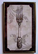 Kitchen Forlk Utensil Framed Wall Print Picture Home Decor