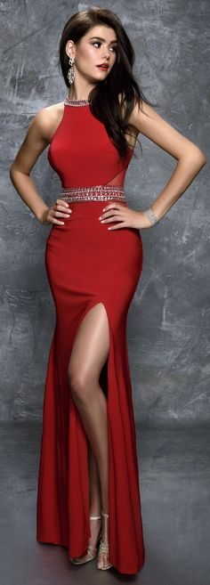 d2fb5320a9 Prom Dresses Evening Dresses by NINA CANACCIanc1285Jewel neckline jersey  dress