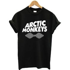 Arctic Monkeys T-Shirt - Unisex Adult SOS 5 Seconds of Summer hipster... ($14) ❤ liked on Polyvore featuring tops, t-shirts, shirts, tees, loose t shirt, tee-shirt, summer shirts, short sleeve shirts and short sleeve tops