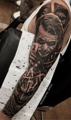50 Tatuagens do Coringa Impressionantes para se inspirar | TopTatuagens