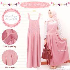 Baju Atasan Jumpsuit Annie Overall Pink - http://bit.ly/2iIdPBr