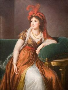 1792 Princess Anna Alexandrovna Galitzin, née Princess Gruzinsky by Élisabeth Louise Vigée Lebrun (Baltimore Museum of Art, Baltimore Maryland) | Grand Ladies | gogm