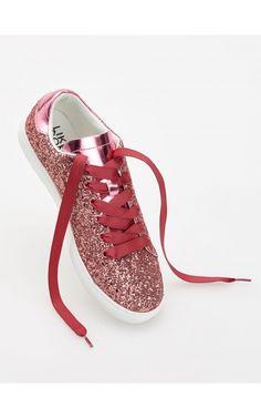 Sportowe buty z brokatem, Nowa kolekcja, rÓŻowy, RESERVED