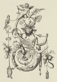 "A page from Johann Theodor de Bry's Neiw Kunstliches Alphabet (1595) ""S"""