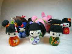 Free Japanese Amigurumi Patterns | Susie Farmgirl: Kokeshi Kokeshi and More Kokeshi