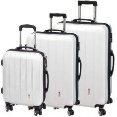 Mit diesem praktischen Kofferset sind Sie für alle Reiseaktivitäten gerüstet! 🍉 In strahlendem Weiß ist die Kofferserie ein echtes Highlight und wird auf dem Gepäckband direkt erkannt. 💋 CHECK.IN London 4-Rad Trolley Set 3tlg. Trolley, London, London England
