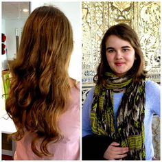 #D2C founder @madeleine_moore cut her hair off for Pantene #BeautifulLengths, to make wigs for #cancer patients. http://bit.ly/1C22gZm