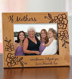 Put a personal touch on her #MothersDay gift with this Personalized Wooden Frame! $19.99