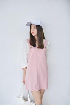 Korean Fashion - Pink strap dress - AddOneClothing - 3