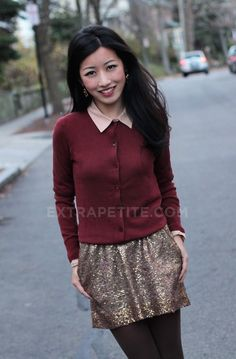 ExtraPetite.com - Holiday Party Outfit: Casual Sequins Edition (  Nick's bday)
