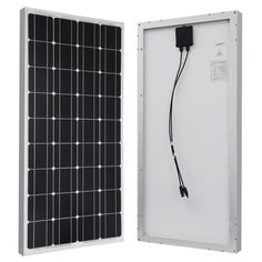 100-Watt Solar Panel Great For 12-Volt Battery Charging Rave Camping Off-Grid