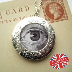 Anatomical Victorian Opium Eye Locket from Hoolala $19.50