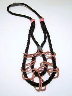 SPIDER WEB - Zipper and Rope Necklace van Catrinel op DaWanda.com