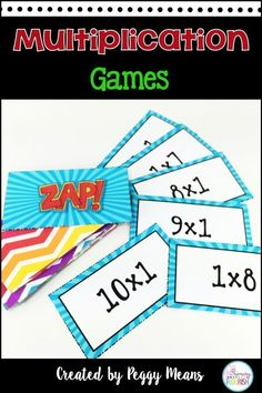 Your 2nd, 3rd, 4th, 5th grade and home school students will enjoy practicing math with these fun ZAP games. Practice multiplication facts with a fun game for each fact family. It makes differentiation easy! These games go perfectly with your math center or station and can be used year after year. It's great for small groups, individuals or teams. They can also be sent home for home work or review during school breaks. {second, third, fourth, fifth graders} #homeschoolingfacts…