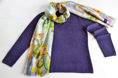 Another beautiful sweater and scarf from Black Goat Cashmere!