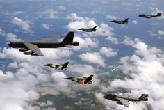 Joint Exercise Cope North 13: EA-6B Prowlers, F-16s and B-52.