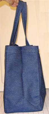 Durable Reusable Grocery Bag I have grocery bags at the moments but they always make me a walking billboard for my old high school and sometimes for a Danish Farmer Association... Yeah, I could definitely use a homemade one that looks exactly how I want it to look. Not to mention, more room for groceries compared to what I have now! A definite must-try.