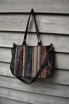 Check out this item in my Etsy shop https://www.etsy.com/listing/257592449/large-fabric-handbagboho-carpetbagblack