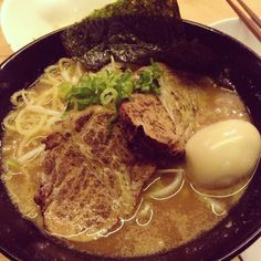 Shoyu ramen with pork shoulder XD @ kinton ramen
