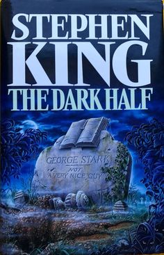The Dark Half by Stephen King FREE AUS POST used hardcover dust jacket