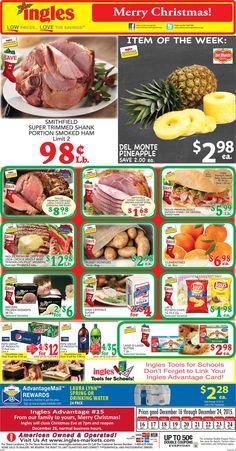 Ingles Weekly Ad Dec 16 - 24, 2015 - http://www.kaitalog.com/ingles-weekly-ad.html