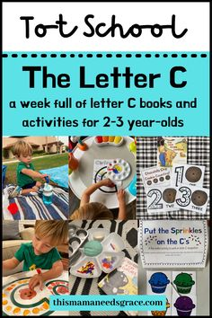 Looking for some ideas and inspiration on how to teach your little one their abcs from home? Visit the blog for a full week of letter C themed activities, books and curriculum. #LetterC #TeachingToddler #AlphabetCurriculum