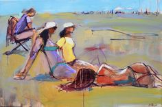 """Sun lovers 24x36"""" acrylic on canvas"""