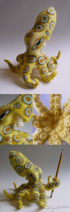 awesome needle felted octopus