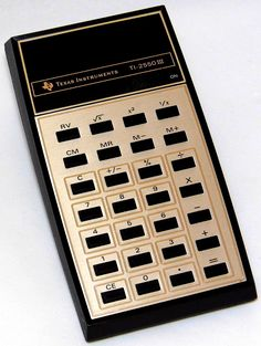 https://flic.kr/p/21yB62Z   Vintage Texas Instruments Electronic Pocket Calculator, Model TI-2550 III, Rechargeable Battery Pack, Made in USA, Circa 1976