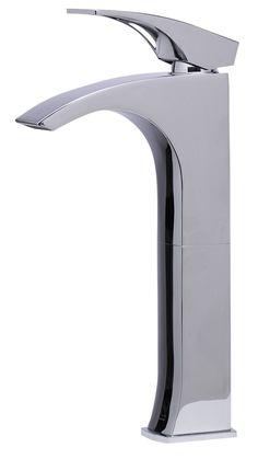 ALFI Tall Polished Chrome Single Lever Bathroom Faucet, AB1587-PC