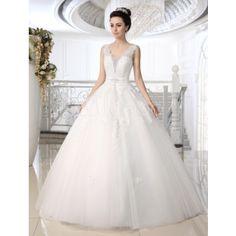 ウェディングドレス,ホワイト 新作 フロアレングス 編み上げ式 高品質 花嫁ドレス 結婚式ドレス