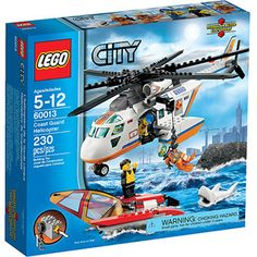 LEGO City Coast Guard Helicopter Play Set  want this for my Bri Guy!!