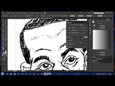 Converting your drawing sketch into a vector using Trace in Illustrator CC - YouTube