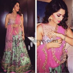 Hansika in Anushree Reddy Lehenga | Saree Blouse Patterns