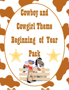 """Saddle up for a great school year! This 88 page file will help you with all aspects of starting your school year. It includes printable Cowboy/Cowgirl themed decorations, an open house scavenger hunt and activities, tons of first week activities, first week parent communication, multiple """"get to know you"""" activities, and much, much more! $8.00."""