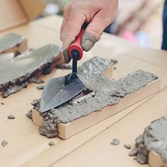 How to make cement letters - perfect to spell out the name of a loved one.