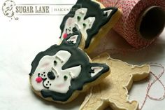 Husky Puppy Sugar Cookies by SugarLaneBakeShop on Etsy, $33.20