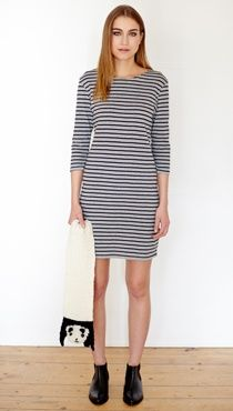 People Tree. Poppy Stripe Dress. AW14. www.peopletree.co.uk. via The Hambledon